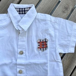 Shirt button down 0 / 3 months Burberry white